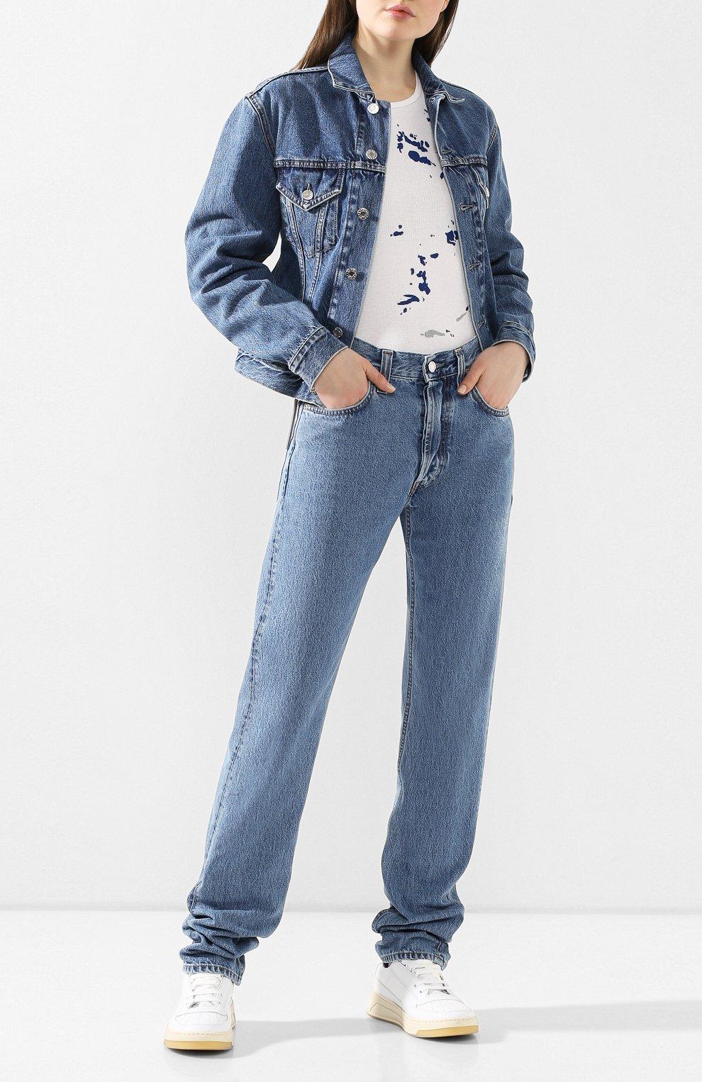 Женские джинсы HELMUT LANG синего цвета, арт. I09DW210 | Фото 2