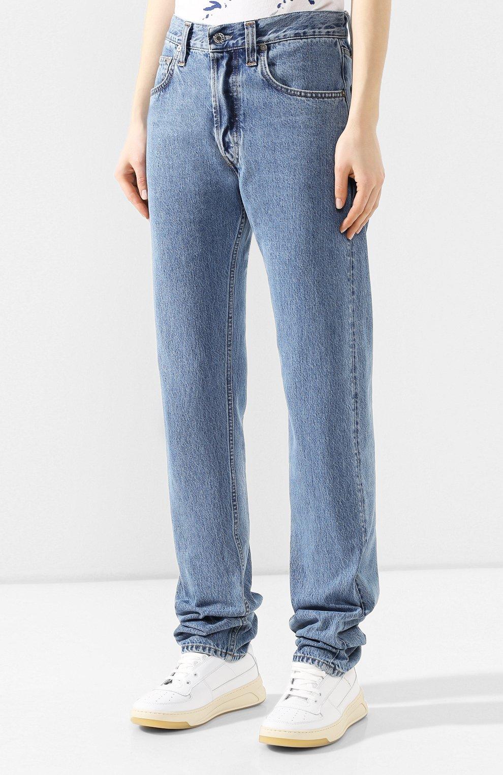 Женские джинсы HELMUT LANG синего цвета, арт. I09DW210 | Фото 3