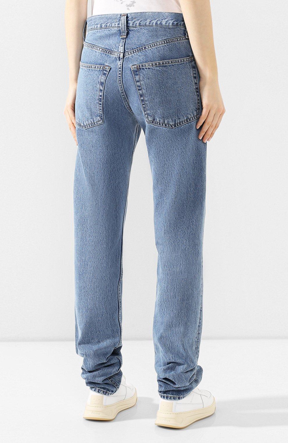 Женские джинсы HELMUT LANG синего цвета, арт. I09DW210 | Фото 4