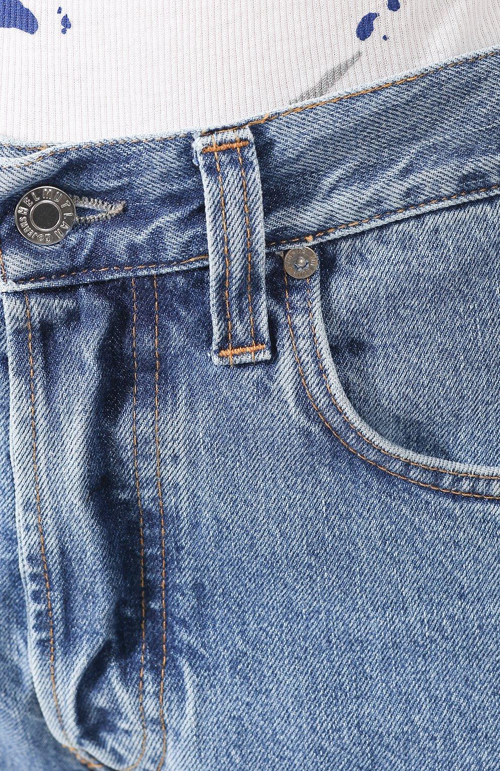 Женские джинсы HELMUT LANG синего цвета, арт. I09DW210 | Фото 5