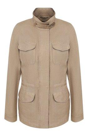 Женская льняная куртка LORO PIANA хаки цвета, арт. FAF6362 | Фото 1