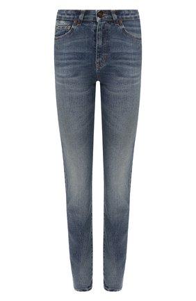 Женские джинсы SAINT LAURENT синего цвета, арт. 614458/YR477 | Фото 1