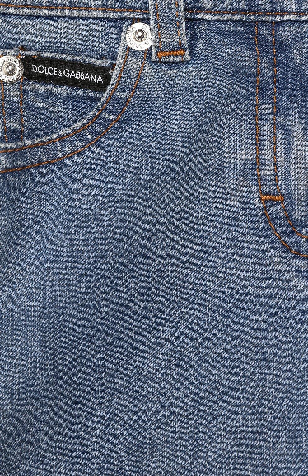 Детские джинсы DOLCE & GABBANA голубого цвета, арт. L21F60/LD885 | Фото 3