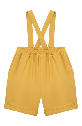 Детский хлопковый комбинезон GUCCI желтого цвета, арт. 591564/XWAG8 | Фото 2