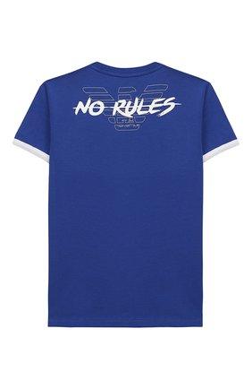 Детская хлопковая футболка EA 7 синего цвета, арт. 3HBT56/BJT3Z | Фото 2