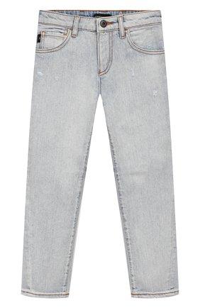 Детские джинсы EMPORIO ARMANI голубого цвета, арт. 3H4J04/4D1YZ   Фото 1