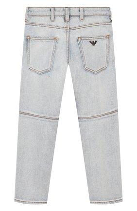 Детские джинсы EMPORIO ARMANI голубого цвета, арт. 3H4J04/4D1YZ   Фото 2