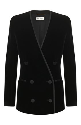 Женский жакет SAINT LAURENT черного цвета, арт. 615864/Y525R | Фото 1