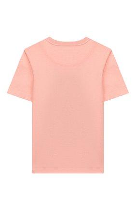 Детская хлопковая футболка DOLCE & GABBANA светло-розового цвета, арт. L5JTCG/G7WQV/8-14   Фото 2