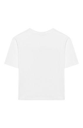 Детская хлопковая футболка DOLCE & GABBANA белого цвета, арт. L5JTAZ/G7WCQ/2-6 | Фото 2