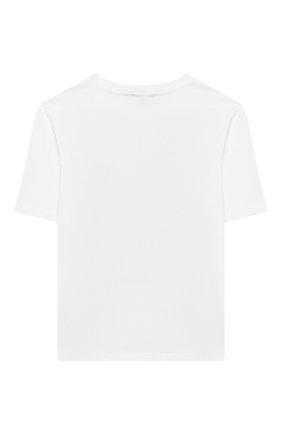 Детская хлопковая футболка DOLCE & GABBANA белого цвета, арт. L5JTAZ/G7WCQ/8-14 | Фото 2