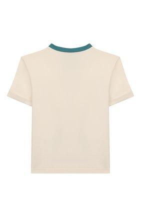 Детская хлопковая футболка DOLCE & GABBANA бежевого цвета, арт. L4JTBM/G7WGJ/2-6 | Фото 2
