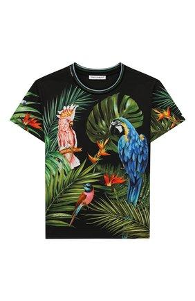 Детская хлопковая футболка DOLCE & GABBANA разноцветного цвета, арт. L4JTBL/G7WGC/2-6 | Фото 1