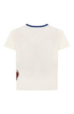 Детская хлопковая футболка DOLCE & GABBANA белого цвета, арт. L4JT6S/G7VJR/2-6 | Фото 2