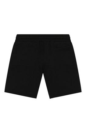 Детские хлопковые шорты DOLCE & GABBANA черного цвета, арт. L4JQG6/G7WGG/2-6   Фото 2
