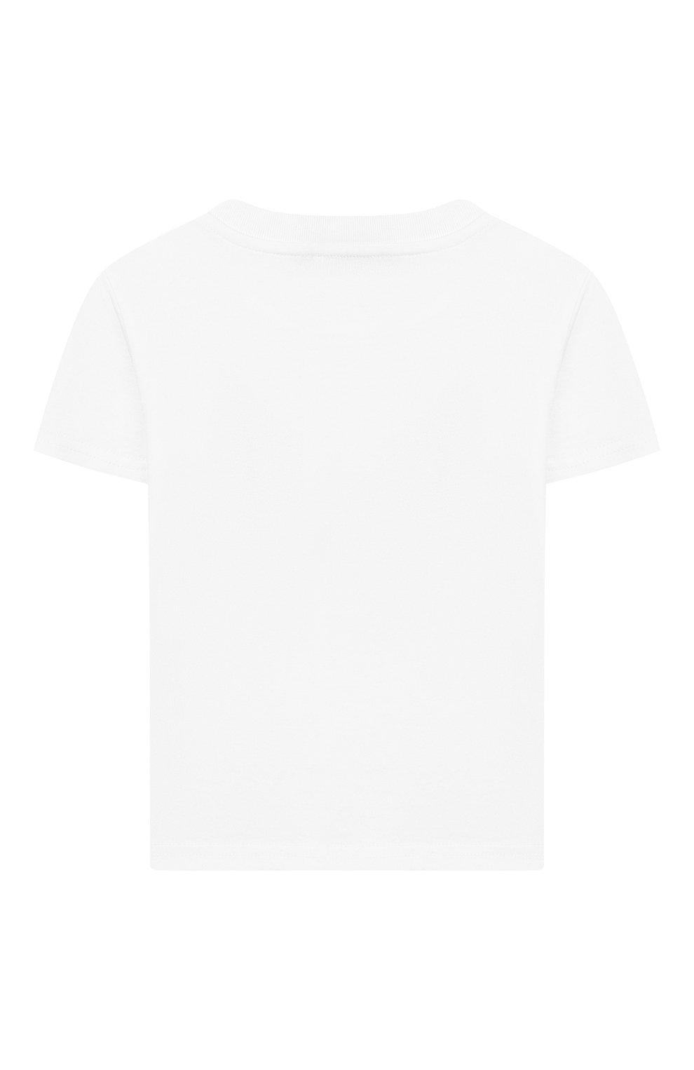 Детский хлопковая футболка DOLCE & GABBANA белого цвета, арт. L2JTAZ/G7WQT | Фото 2 (Рукава: Короткие; Материал внешний: Хлопок)