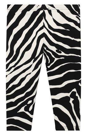 Детские хлопковые леггинсы DOLCE & GABBANA черно-белого цвета, арт. L2JP5B/FSGT9 | Фото 2