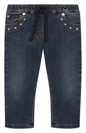 Детские джинсы DOLCE & GABBANA синего цвета, арт. L22F04/LD873 | Фото 1