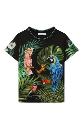 Детский хлопковая футболка DOLCE & GABBANA разноцветного цвета, арт. L1JT7W/G7WGC | Фото 1