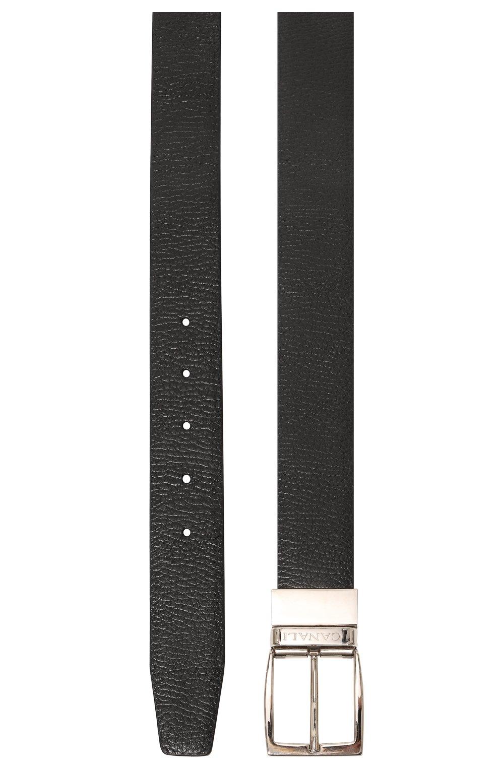 Мужской двусторонний ремень CANALI черного цвета, арт. 50C/KA00107 | Фото 3