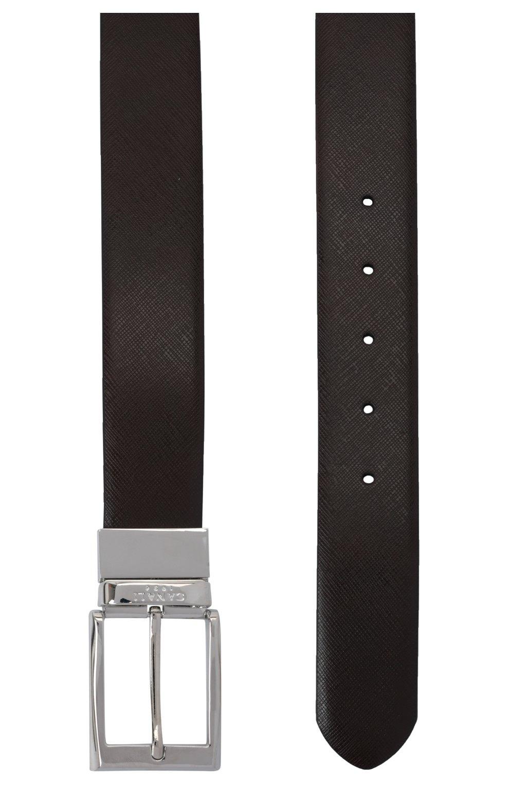 Мужской двусторонний ремень CANALI темно-коричневого цвета, арт. 50C/KA00033 | Фото 3