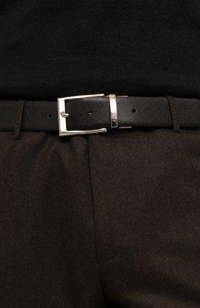 Мужской кожаный ремень CANALI черного цвета, арт. 50C/KA00033 | Фото 2