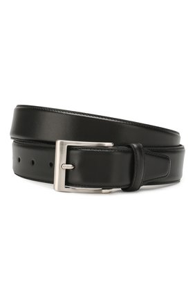 Мужской кожаный ремень CANALI черного цвета, арт. 50C/KA00025 | Фото 1