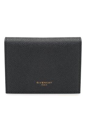 Мужской кожаный футляр для кредитных карт GIVENCHY темно-синего цвета, арт. BK6004K0UG | Фото 1