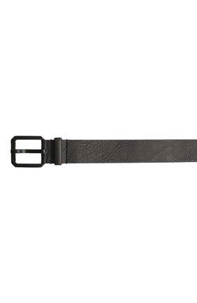Мужской кожаный ремень STONE ISLAND черного цвета, арт. 721594273 | Фото 3