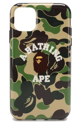 Мужской чехол для iphone 11 BAPE зеленого цвета, арт. 1F70182239 | Фото 1