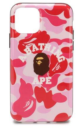 Мужской чехол для iphone 11 pro BAPE розового цвета, арт. 1F70182240 | Фото 1