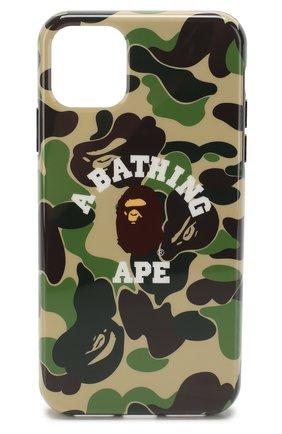 Мужской чехол для iphone 11 pro max BAPE зеленого цвета, арт. 1F70182241 | Фото 1