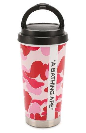 Мужской термостакан BAPE розового цвета, арт. 1G30182012 | Фото 1