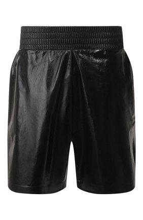 Мужские кожаные шорты BOTTEGA VENETA черного цвета, арт. 617342/VKLC0 | Фото 1