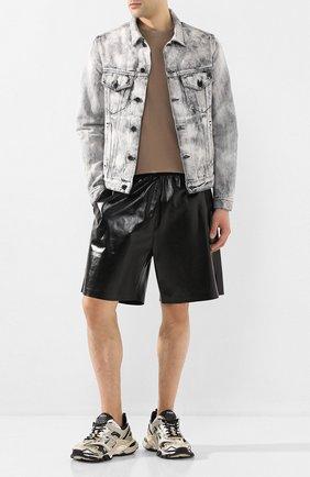 Мужские кожаные шорты BOTTEGA VENETA черного цвета, арт. 617342/VKLC0 | Фото 2