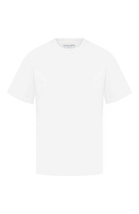 Мужская хлопковая футболка BOTTEGA VENETA белого цвета, арт. 617933/VF1U0   Фото 1