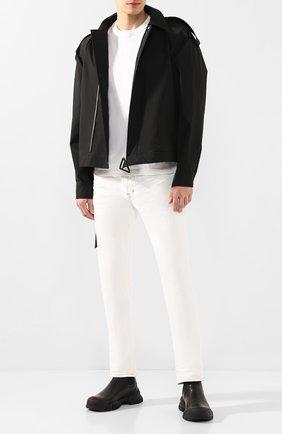 Мужская хлопковая футболка BOTTEGA VENETA белого цвета, арт. 617933/VF1U0   Фото 2