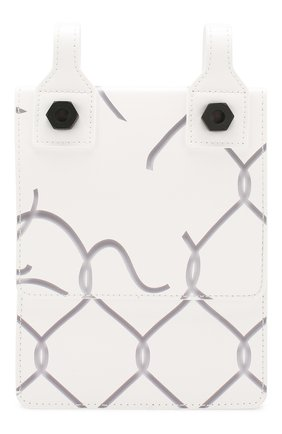 Мужская кожаная сумка OFF-WHITE белого цвета, арт. 0MNA100S207200300110   Фото 1