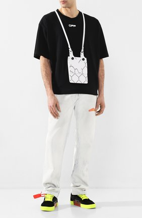 Мужская кожаная сумка OFF-WHITE белого цвета, арт. 0MNA100S207200300110   Фото 2