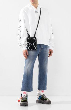 Мужская кожаная сумка OFF-WHITE черного цвета, арт. 0MNA100S207200301001 | Фото 2