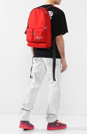 Мужской текстильный рюкзак OFF-WHITE красного цвета, арт. 0MNB003S205210372010 | Фото 2