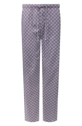 Мужские хлопковые домашние брюки HANRO синего цвета, арт. 075216   Фото 1