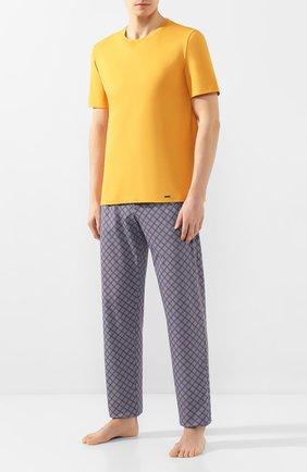 Мужские хлопковые домашние брюки HANRO синего цвета, арт. 075216   Фото 2