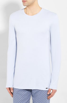 Мужская хлопковая пижама HANRO голубого цвета, арт. 075111 | Фото 2