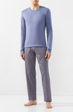 Мужская хлопковая пижама HANRO синего цвета, арт. 075111 | Фото 1