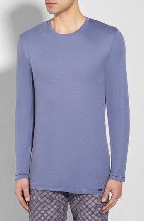 Мужская хлопковая пижама HANRO синего цвета, арт. 075111 | Фото 2