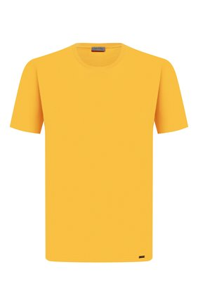 Мужские хлопковая футболка HANRO желтого цвета, арт. 075050 | Фото 1