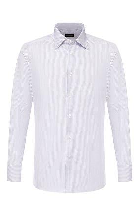 Мужская хлопковая сорочка ERMENEGILDO ZEGNA синего цвета, арт. 701334/9MS0PA | Фото 1