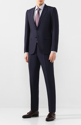 Мужская хлопковая сорочка ERMENEGILDO ZEGNA синего цвета, арт. 701334/9MS0PA | Фото 2