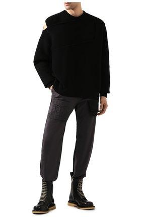 Мужской кашемировый свитер BOTTEGA VENETA черного цвета, арт. 620902/VKTI0 | Фото 2